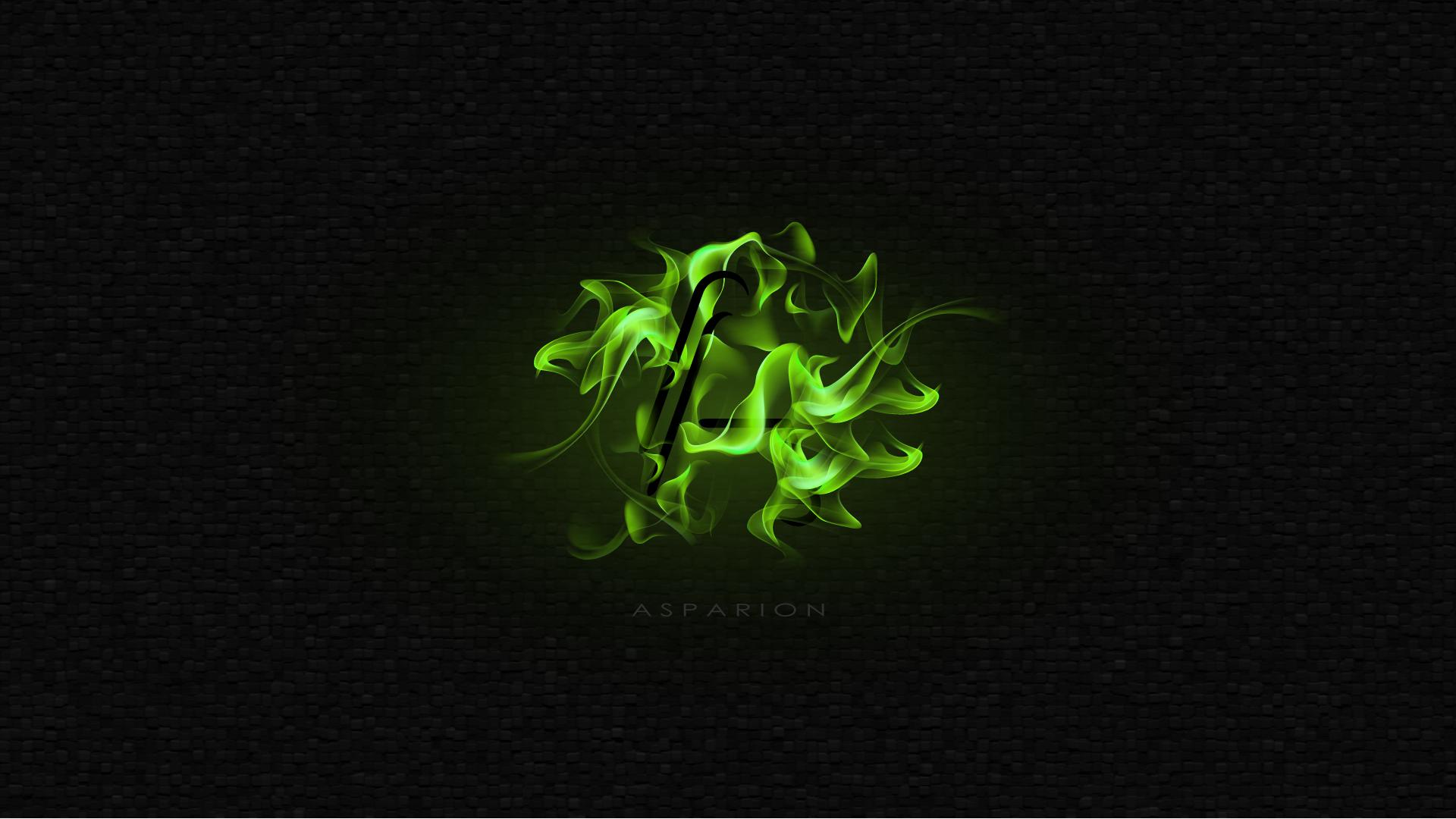 Green Fire Wallpaper Background Info - Asparion...